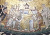 رسم يمثّل المسيح ومريم العذراء والتلاميذ، قبّة كنيسة سان دييغو (روما). -  ©Adyan